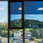 Fensterflächen mit Scheiben von Saint Gobain