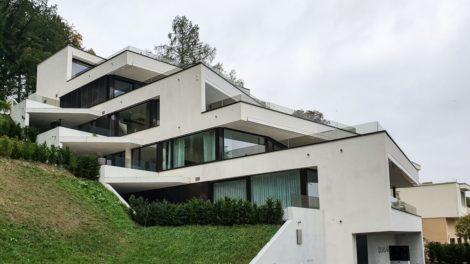 Erstklassige Dämmung mit Schöck Sconnex® Typ W, Terrassenhaus Quasar Erlinsbach