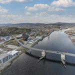 Blick vom Powerhouse Telemark
