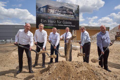 Baubeginn für neues Besucherzentrum: Schüco Welcome Forum