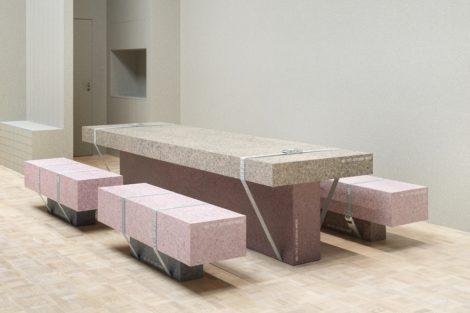 Natural Bond: Recycelbare Ausstellung von Tarkett und Note Design Studio auf der Stockholmer Möbelmesse