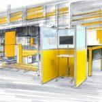 industrial workspace mit Wandelemente-Stellwandsystem mauser