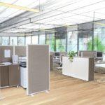 open space office mit Wandelemente-Stellwandsystem mauser