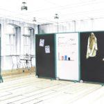 think tank mit Wandelemente-Stellwandsystem mauser