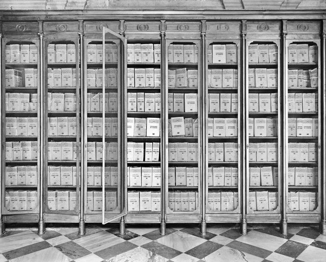 Archivo General de Indias, Innenansicht, Regale © Ursula Schulz-Dornburg