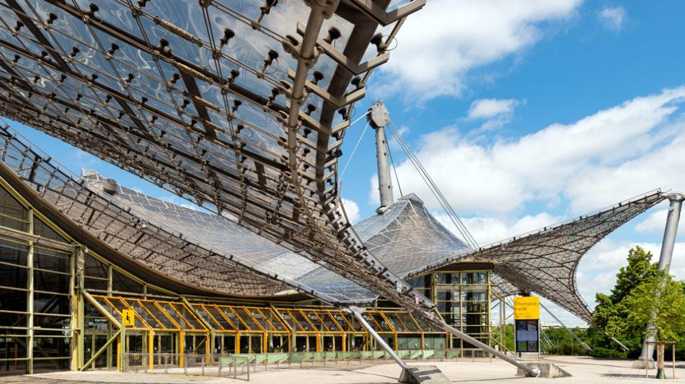 Außenansicht Olympiahalle München, Sanierung Brandschutzmaßnahmen und Technik