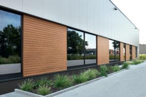 Fassadenprofile aus Holzverbundwerkstoff