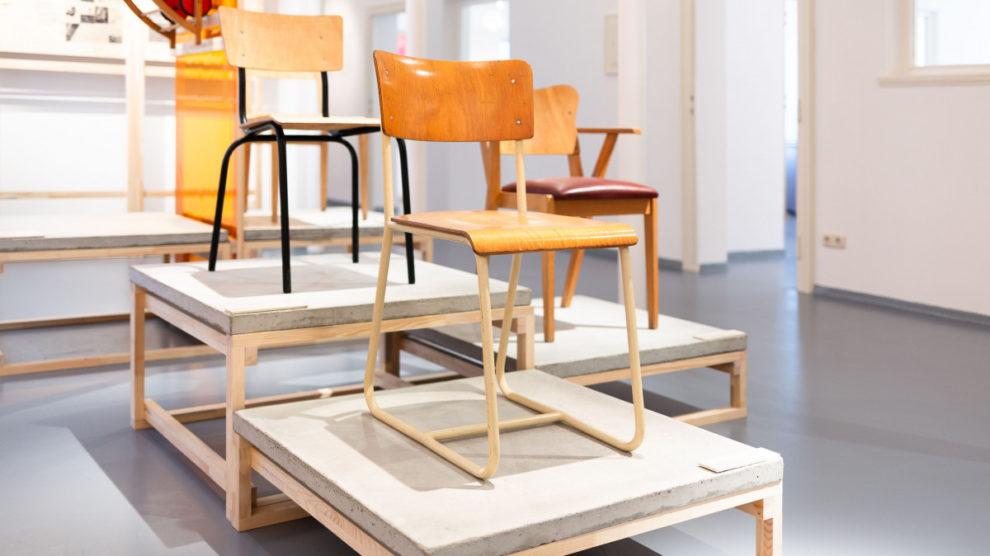 """Sonderausstellung """"Alltag formen! Bauhaus-Moderne in der DDR"""" im Museum Utopie und Alltag, Eisenhüttenstadt 2019   Bild:: Kevin Fuchs."""