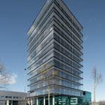 Firmenzentrale der Roschmann Group, Hochhaus mit Glasfasasade