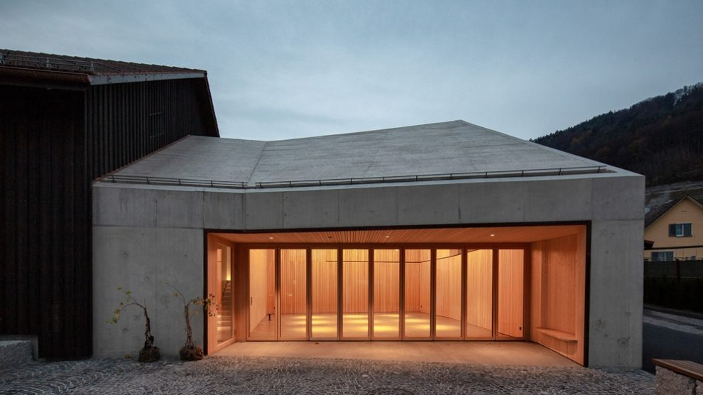 Haus des Weins, Glas-Faltwand