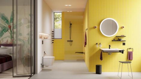 Das Befestigungssystem HEWI Accessoire-Linie System 815 mit ausgezeichnetem Design und Funktionalität für zuhause oder im Hotelbad.
