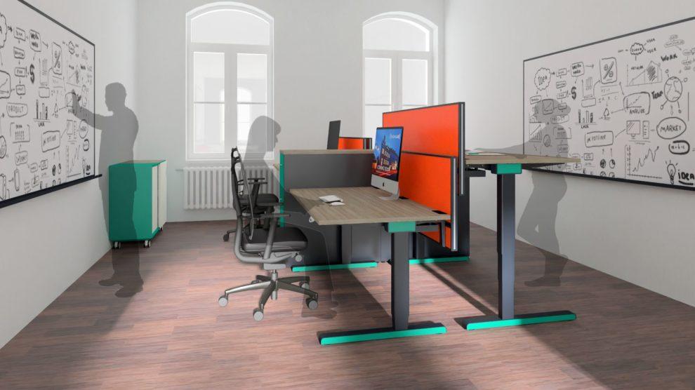 Innenausstattung: 4er-Büro im heder:LAB (3D-Planung)