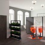 Eingangsbereich und Think Tank im heder:LAB (3D-Planung)