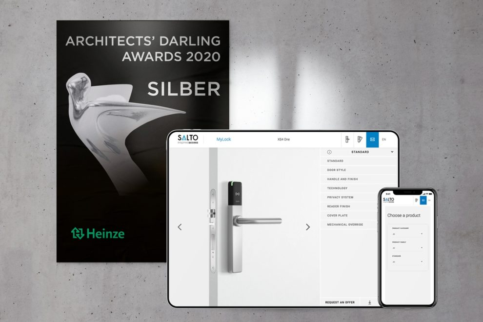Tür Konfigurator erhält ARCHITECTS' DARLING AWARD für MyLock von SALTO