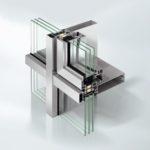 Schüco Fenster AWS 75 PD.SI integriert in die Schüco Fassade FWS 35 PD