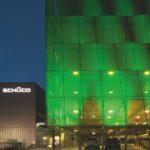 Beleuchtung Fassade Schüco Parkhaus