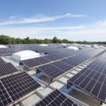 Photovoltaik auf dem Dach des Materiallager Welzheim