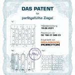Patentanmeldung Perlit Ziegel