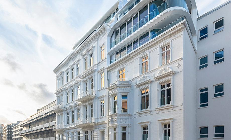 Wohngebäude in Hamburg von BAID, historische Fassade